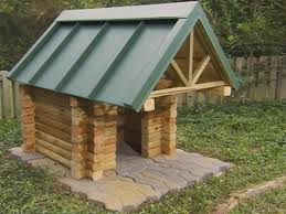 Log House Plans How To Build A Log Cabin Doghouse How Tos Diy