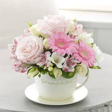 mothers day teacup and saucer arrangement mothers day flowers