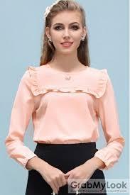 blouse ruffles apparel blouse ruffles chiffon sleeves blouse