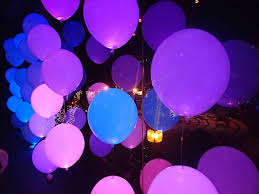 20pc pack 12 mix color balloons with white led light for