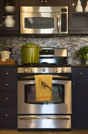 mosaic glass backsplash kitchen kitchen designed with mosaic glass backsplash and using microwave