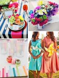de lovely affair rainbow wedding decor top trend for 2013 by
