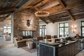 country living rooms country style living room with double sided stone fireplace