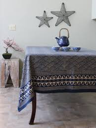Dining Room Tablecloths Amazon Com Pacific Blue Rustic Navy Blue Ocean Oriental Asian