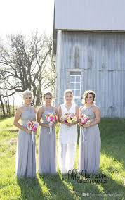 cheap 2017 new country style cheap bridesmaid dresses grey blue