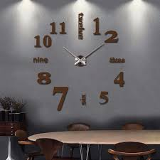 Diy D Acrylic Clock Wall Decalsstickers For Reception Family - Family room wall decals