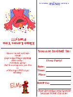 find the ultimate free elmo kid birthday invitation