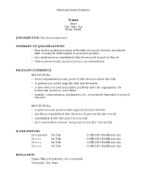 Job Resume Template Resume Format For Doctors Bams How To Write A Psychology Research