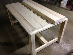 Free Picnic Table Plans 2x6 by Free Plans For Making A Rustic Farmhouse Table A Lesson Learned