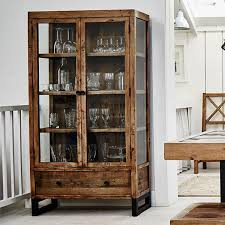 wood and glass cabinet wood furniture reclaimed wood glass display cabinet modish living
