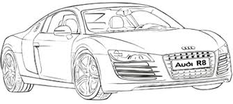 audi tron coloring pages sketch coloring