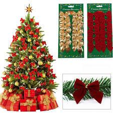 bags of christmas bows 12 pcs bag gold silver christmas bowknot christmas tree