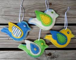 felt bird ornament etsy