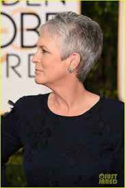 how to get the jamie lee curtis haircut jamie lee curtis daughter annie guest sport matching silver hair
