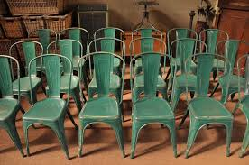 Tolix Bistro Chair A Set Of 18 Vintage Tolix A Bistro Chairs In Original Green All