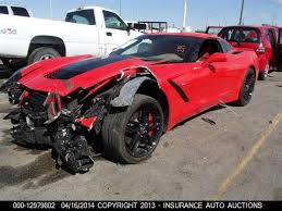 corvette auctions save the stingrays damaged c7 corvette stingray with 293 to