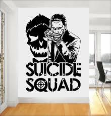 joker suicide squad wall art sticker fashion design wall stickers design joker suicide squad art decor fashion design wall stickers for boys bedroom teens room decor manga mural