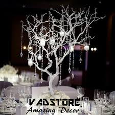 tree branch centerpieces artifiical white coffee branches tree without leaveswedding table