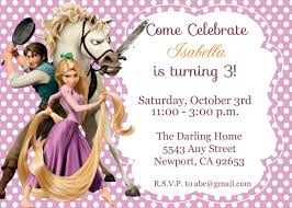 tangled rapunzel invitation disney princess kid u0027s