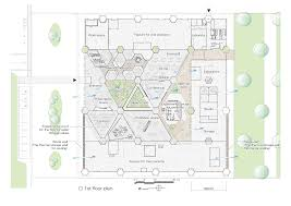 hexagon house floor plans gallery of aron r u0026d center osamu morishita 30