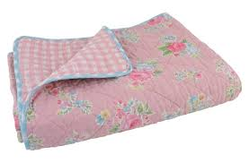 tagesdecke kinderzimmer rosa tagesdecke quilt 180x130cm ib laursen denmark