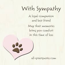 condolences for loss of pet free sympathy cards for pets on