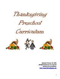 thanksgiving activity curriculum prek k 1 2 by pre k teach tpt