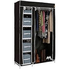 Shelf Reliance Shelves by Extra Strong Metal Frame Canvas Wardrobe With Shelf And Shoe