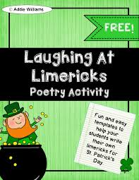 st patricks day writing paper classroom freebies too limerick writing templates students to use to learn about limericks and to help students write their own includes examples templates and st patrick s day themed writing paper