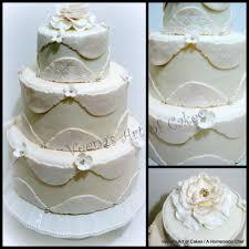 cosmos lace inspired white wedding cake veena azmanov