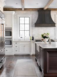 French Kitchen French Country Kitchen With Reclaimed Wood Beams And Zinc French