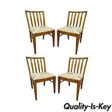 Slat Back Dining Chairs 4 Vintage Mid Century Modern Maple Slat Back Dining Chairs Paul
