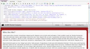 tutorial html editor previewing your work in the html editor coffeecup software