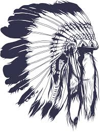 indian headdress tattoo on ribs indian chief headdress drawing at getdrawings com free for