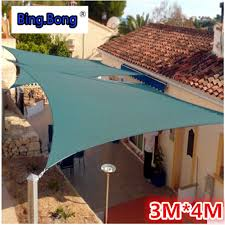 Triangle Awning Canopies Outdoor Sun Shade Sail 3m 4m Gazebo Garden Awning Canopy