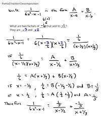 partial fraction decomposition