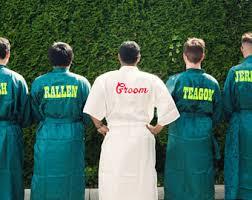 bridesmaid satin robes groomsmen robes etsy