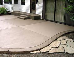 Concrete Backyard Patio by Sandstone Colored Concrete Patio Stamped Concrete Pinterest