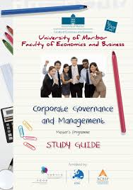 corporate governance and management study guide by ekonomsko