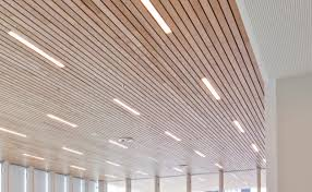 Wood Slat Ceiling System by Slatted Timber Suspended Ceilings Slatted Timber Wall Panels