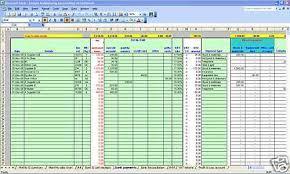 Ebay Excel Template Garage Mot Centre Bookkeeping Vat Spreadsheet 2017 Year End