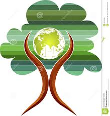 tree globe logo stock vector image of element evaluation