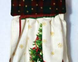 hanging kitchen towel christmas kitchen towel with snowman