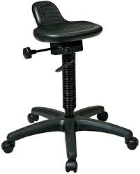 kh206 office star extended height sit stand stool with seat
