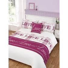 love bed in a bag duvet set king bedding bedroom linen