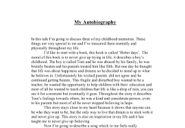 biography exle yourself best photos of autobiography exles about myself math