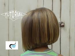 bob hairstyle cut wedged in back little girl bob haircut adorable a line hairstyles youtube