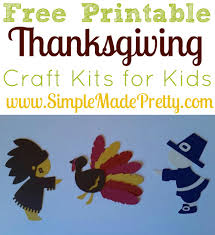 free printable thanksgiving craft kits for kids simple made pretty