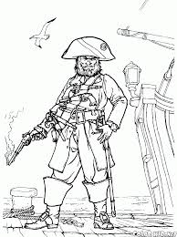 coloring page pirates