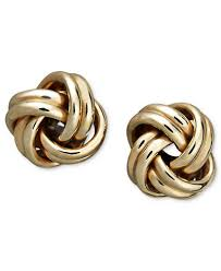 knot stud earrings in 18k gold earrings jewelry watches